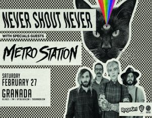 Never Shout Never event poster