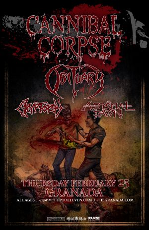 Cannibal Corpse event poster